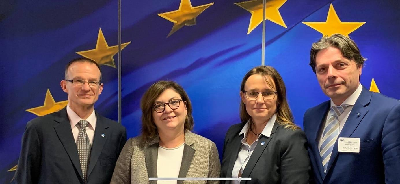 First face-to-face meeting between EU Transport Commissioner Valean & ECA, Feb 2020