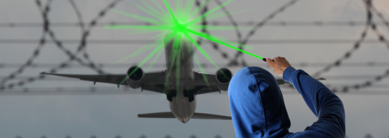 laser attacks EU UK